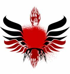 fire wings vector image