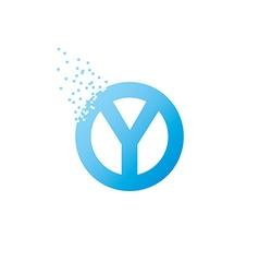 Circle initial letter uppercase logo design vector