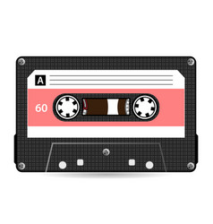 retro audio cassette plastic audio vector image
