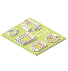 Isometric stadium buildings set vector