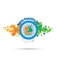 happy india republic day design vector image