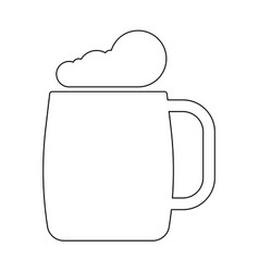 Glass of beer the black color icon vector
