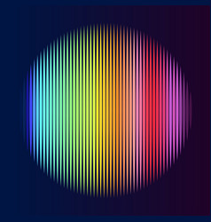 Multicolor lines in circle shape vector