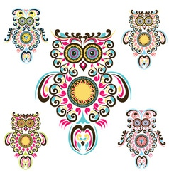 Pattern owls vector
