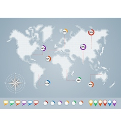 World map geo infographics template EPS10 file vector image
