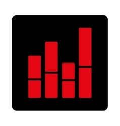 Bar chart icon vector
