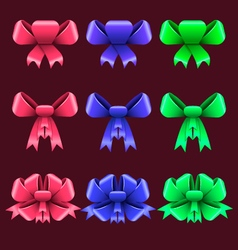 Set with colorful bows vector