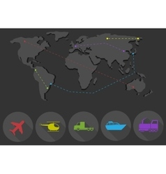 Transportation and delivery network vector