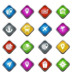 Navigation and transport icons set vector