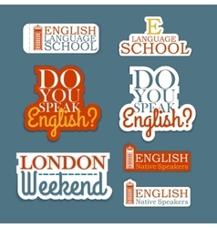 English language set vector