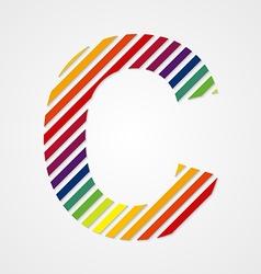 Alphabet Letter C vector image vector image