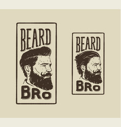 Beard bro vector
