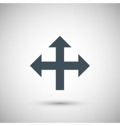 blue arrow vector image