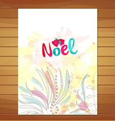 Christmas card watercolor floral background vector