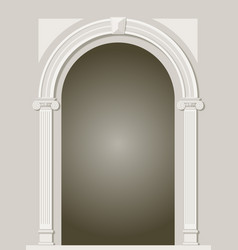 Classic antique arch vector