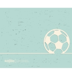 Creative Ball football Art vector image