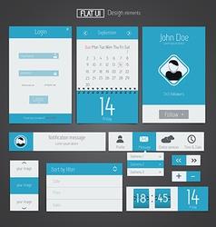 Flat web design elements 5 vector