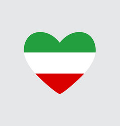 Heart in colors of the iran flag vector