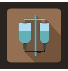 Intravenous infusion icon flat style vector image