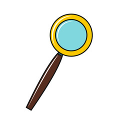 magnifier icon isolated on a white background vector image