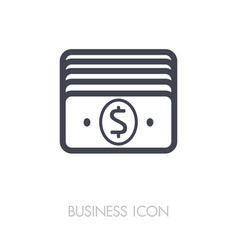money outline icon business sign vector image vector image