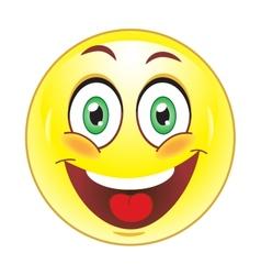 smiley face vector image
