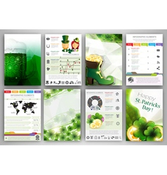 St Patricks Day Infographic backgrounds vector image vector image