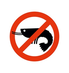 Stop shrimp Banned deep-water plankton Frozen vector image