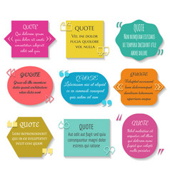 text quotes box set texting quote sentence vector image vector image