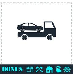 Tow car evacuation icon flat vector image vector image