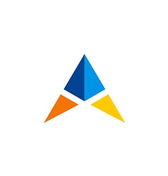 triangle simple color logo vector image