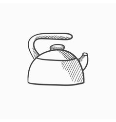 Kettle sketch icon vector