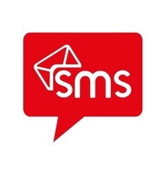 Bubble chat sms text mobile icon graphic vector