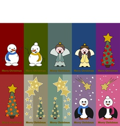 Special christmas tags vector