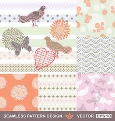 Retro style seamless fabric vector