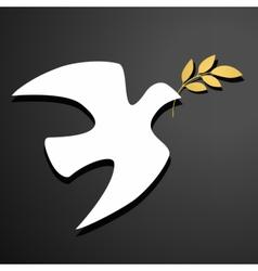 Dove silhouette logo template vector