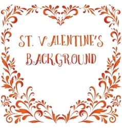 Floral pattern valentine hearts vector