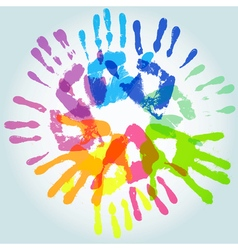 Colorful handprint vector