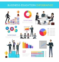 Education infographic of successful people growth vector
