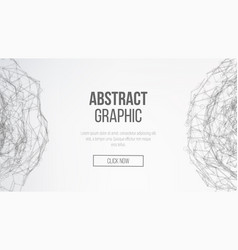 science background connecting dots and lines vector image