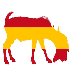 Spanish he-goat vector