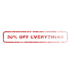 30 percent off everything rubber stamp vector image