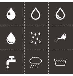 black water icon set vector image