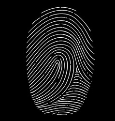 Fingerprint isolated on a black background vector