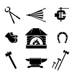 Blacksmith icons vector
