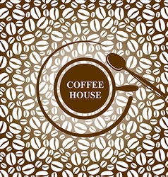 Coffee cap brown vector