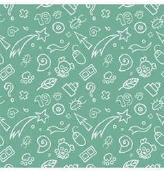 Doodle childish seamless pattern vector