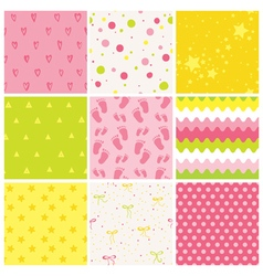 9 seamless baby patterns baby texture wallpaper vector