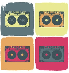 Audio cassette pop art concept vector