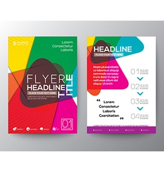 Abstract colorful brochure flyer design layout vector